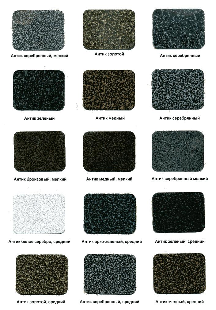Образцы порошковой покраски
